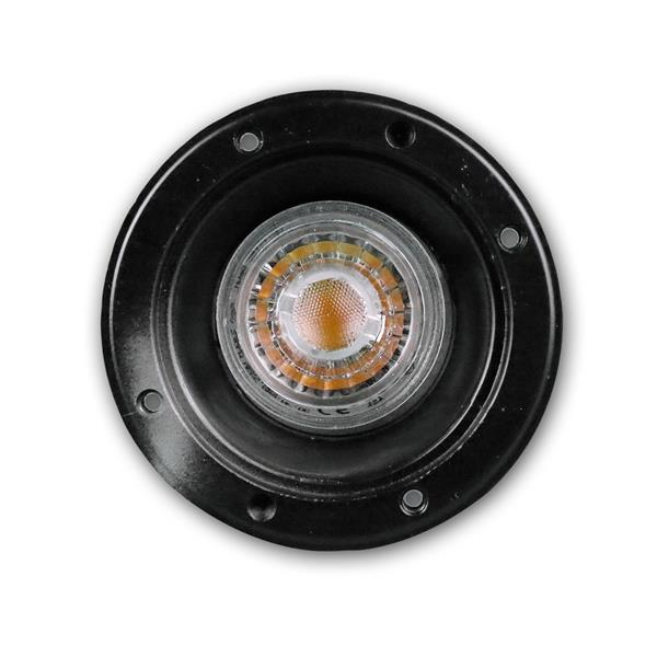IP44 LED Uplight schwarz, auch als Einbauleuchte zu verwenden