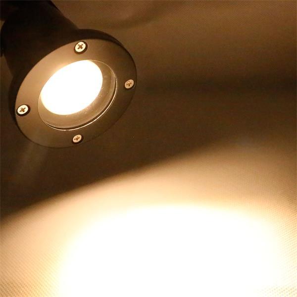 Gartenstrahler schwarz IP44 mit 7W GU10 COB Leuchtmittel