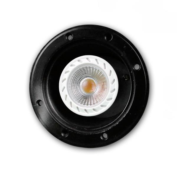 LED Uplight schwarz IP44, auch als Einbauleuchte zu verwenden