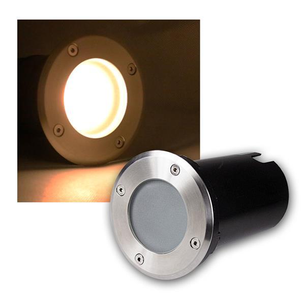 Bodeneinbaustrahler rund 3W COB LED warm weiß 230lm