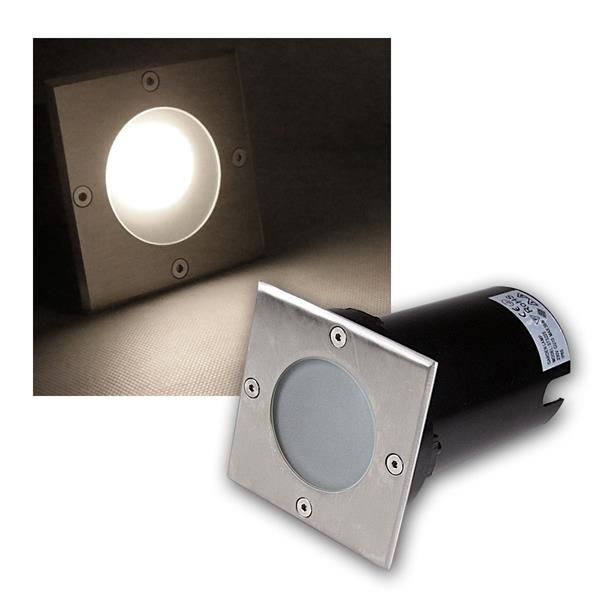 Bodeneinbaustrahler eckig 3W COB LED daylight 250lm