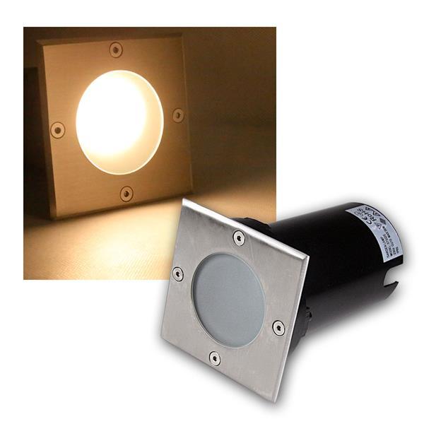 Bodeneinbaustrahler eckig 5W COB LED warmweiß 400lm