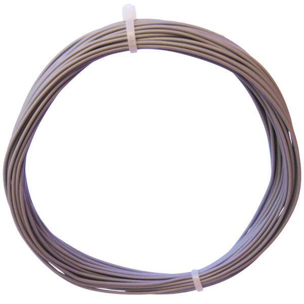 10m Litze flexibel grau 0,25mm² - Ø1,3mm