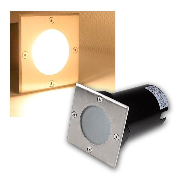 Bodeneinbaustrahler eckig 7W COB LED warmweiß 500lm