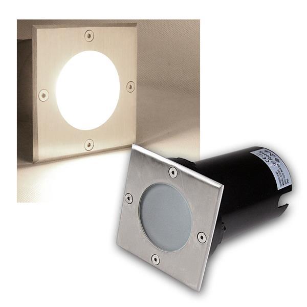 Bodeneinbaustrahler eckig 7W COB LED daylight 520lm