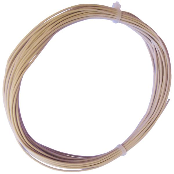 10m Litze flexibel weiß 0,25mm² - Ø1,3mm