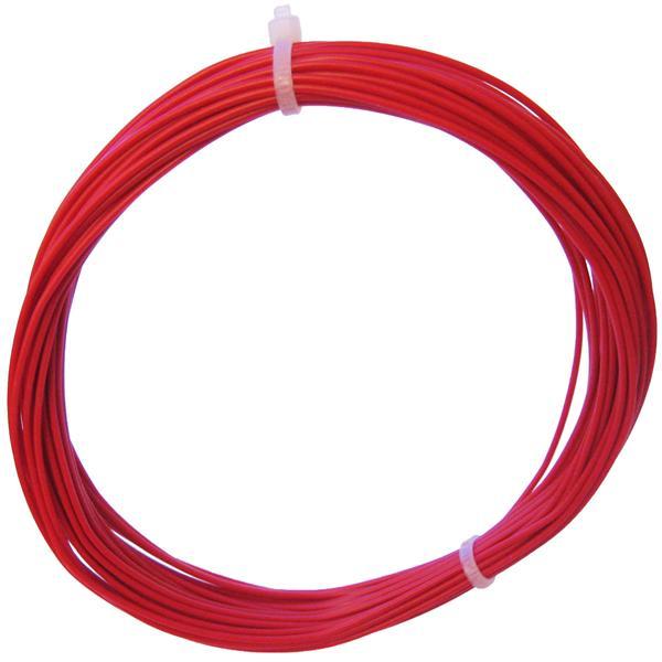 10m Litze flexibel rot 0,25mm² - Ø1,3mm