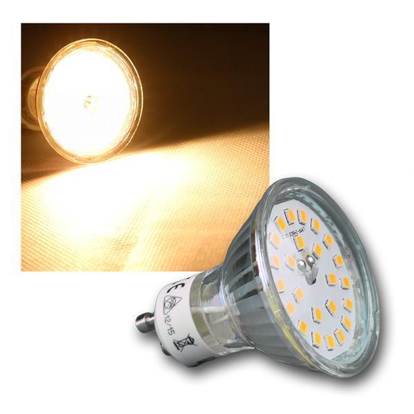 LED Strahler GU10 H55 SMD 120° 400lm warmweiß 5W