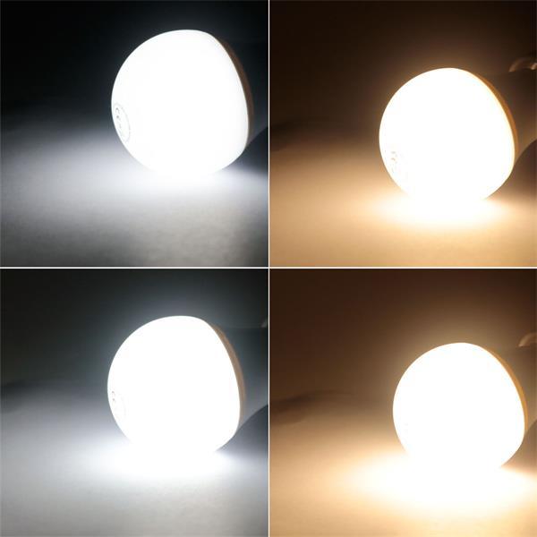 Warm- oder kaltweiß leuchtende E27-Birne