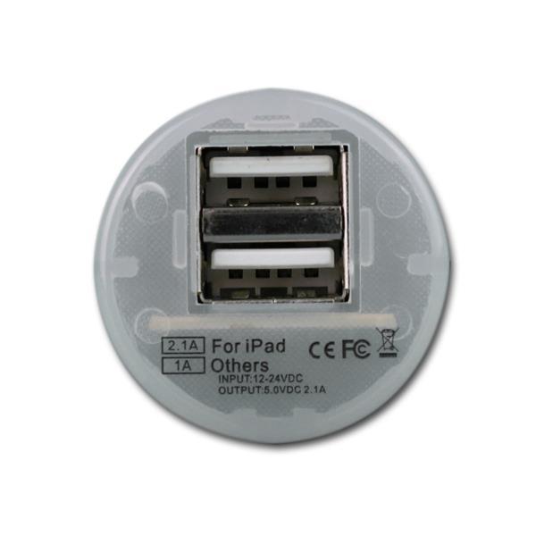 24V Ladegerät kompatibel für Smartphone, MP3-Player oder Navis