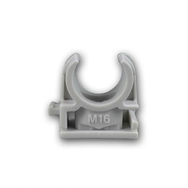 Schnappschellen 100 Stk IEC - M16 Rohrschelle grau