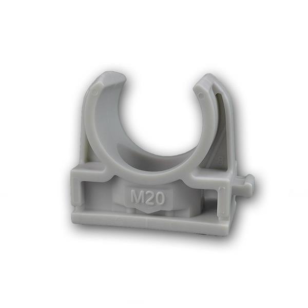 Schnappschellen 100 Stk IEC - M20 Rohrschelle grau