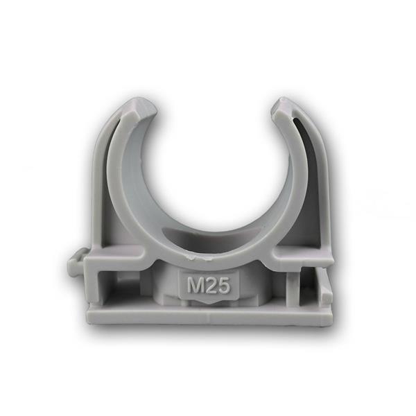 Schnappschellen 100 Stk IEC - M25 Rohrschelle grau