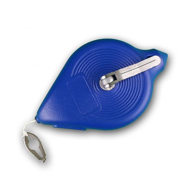 Schlagschnur, 30m, blau, Metallkurbel und Metallgehäuse