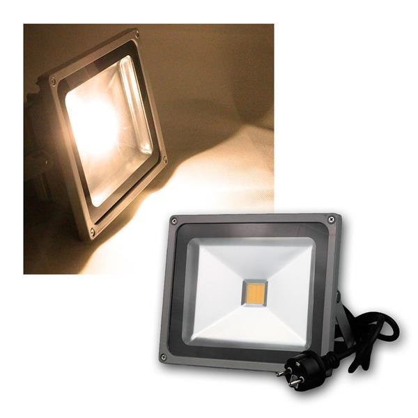 LED Flutlichtstrahler 30W 230V warmweiß 2000lm
