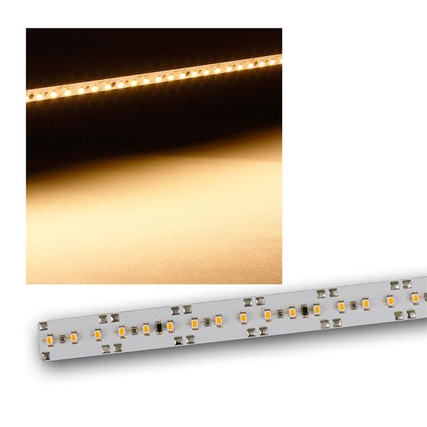 Alukern-Leiterplatte mit 66 SMD LEDs warmweiß 12V