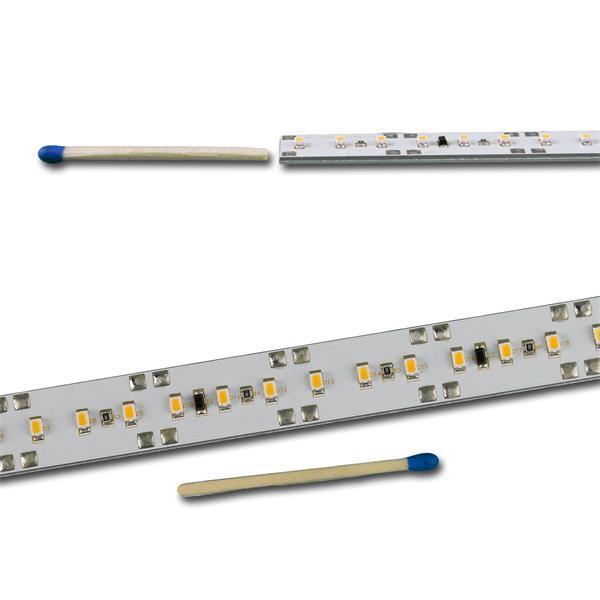 LED Leiste mit durchgehender Spannungsleiterbahn für beidseitigen Anschluss