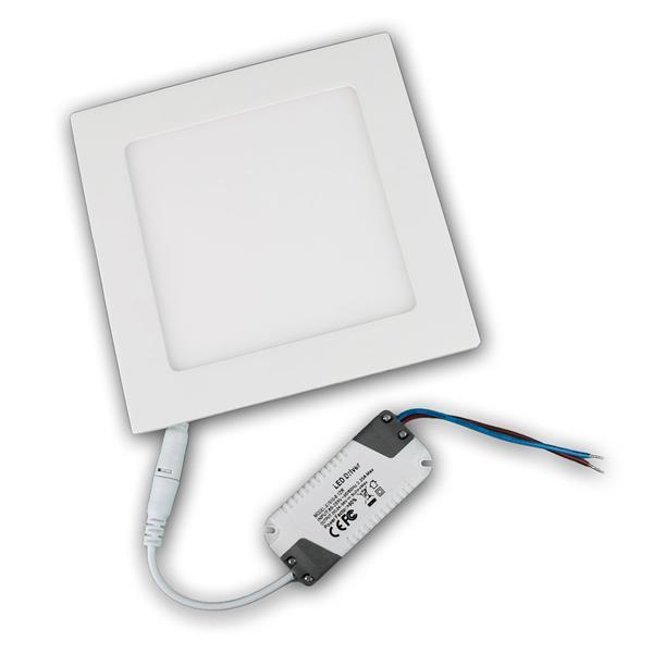 Panel 17x17cm weiße LED Einbauleuchte in modernen und schlichten Design