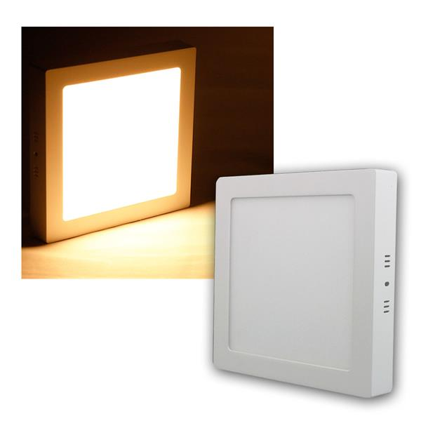 LED Panel WP18-AQ warm weiß 1520lm 22x22cm eckig