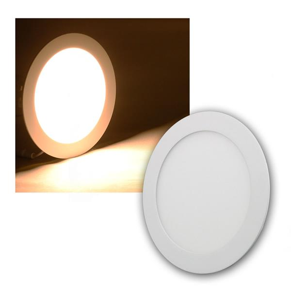 LED Panel WP12-ER warm weiß 850lm, Ø17cm, rund