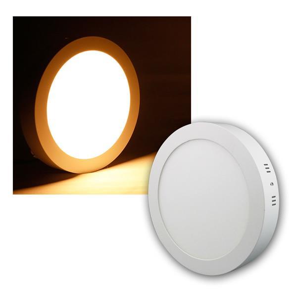 LED Panel WP12-AR warm weiß 850lm, Ø17cm, rund