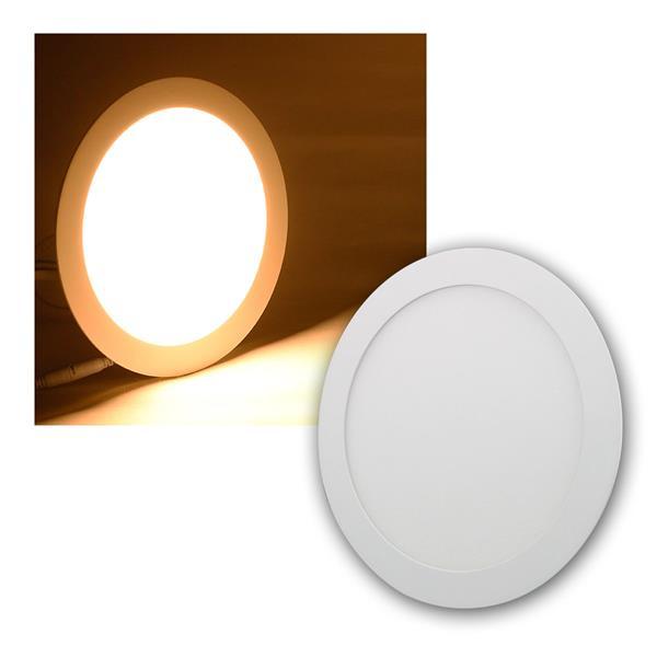 LED Panel WP18-ER warm weiß 1520lm, Ø22cm, rund