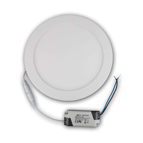 weiße LED Einbauleuchte in modernen und schlichten Design