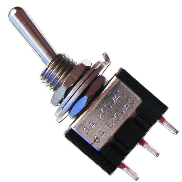 Miniatur-Kipp-Schalter MTS-102 schwarz 1-polig
