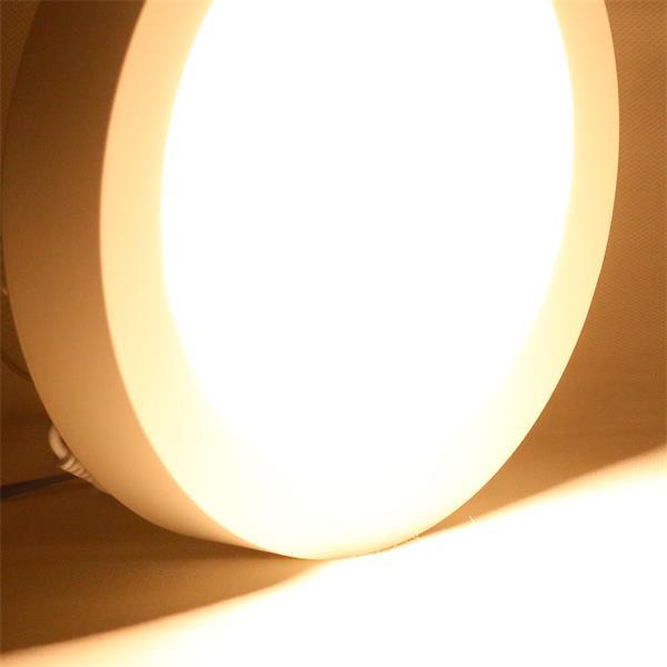 LED Deckenleuchte mit satinierten Diffusor ohne Blendeffekte