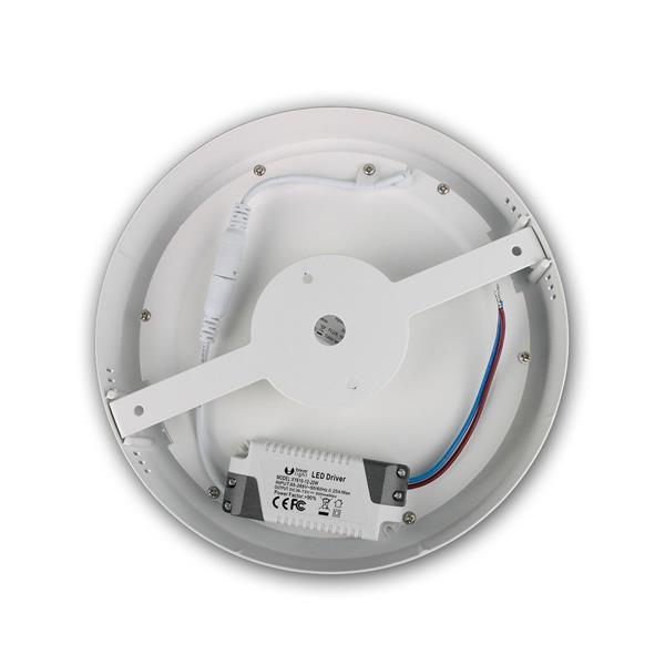 weiße LED Aufbauleuchte in modernen und schlichten Design