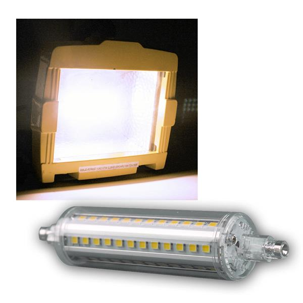LED Strahler R7s SMD9-NW 360° 750lm daylight 118mm