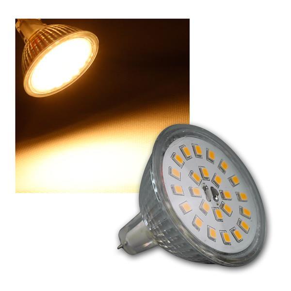 LED Strahler MR16 H55 SMD 120° 400lm warmweiß 5W
