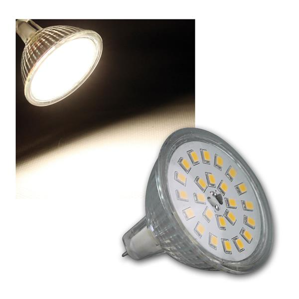 LED Strahler MR16 H55 SMD 120° 420lm daylight 5W