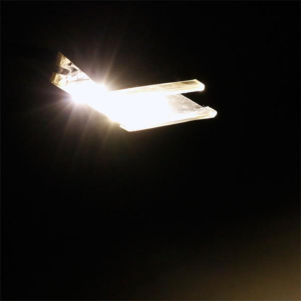 Einzelclip-LED Glaskantenbeleuchtung in 40mm Breite