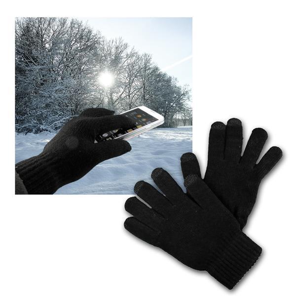 Touchscreen Handschuhe schwarz für Smartphone