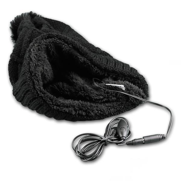 kuschelig weichen Mütze mit integrierten Kopfhörern und Headset