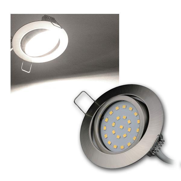 LED-Einbauleuchte Flat-26 daylight 350lm Edelstahl