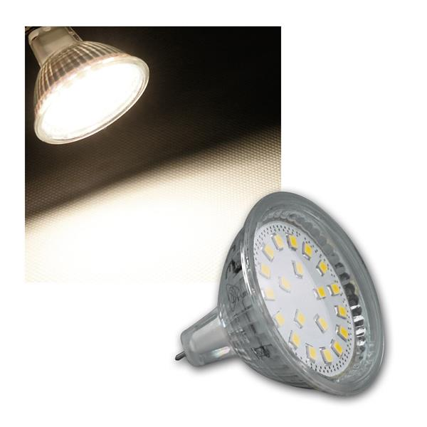 LED Strahler MR16 H40 SMD 120° 300lm daylight 3W
