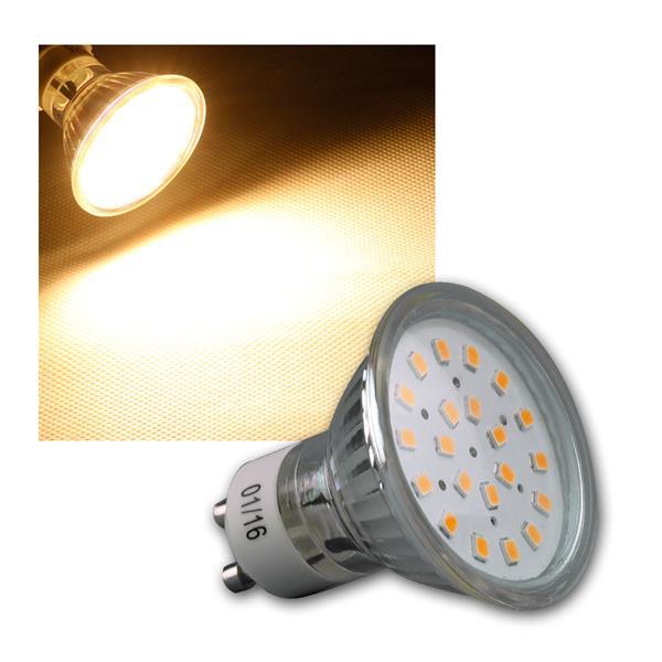 LED Strahler GU10 H40 SMD 120° 280lm warmweiß 3W