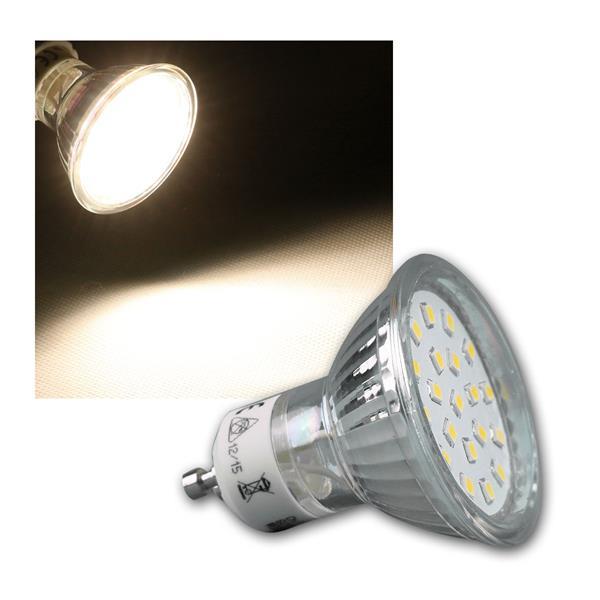 LED Strahler GU10 H40 SMD 120° 300lm daylight 3W