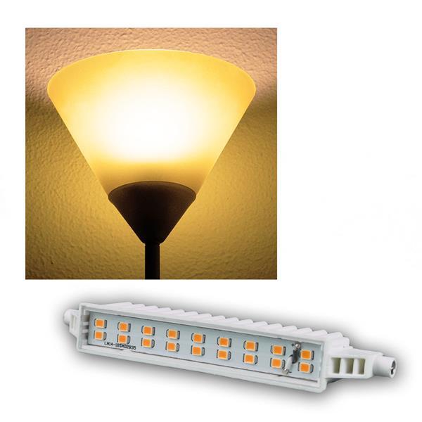 R7s LED-Leuchtstab 118mm warm weiß 500lm 5,7W/230V