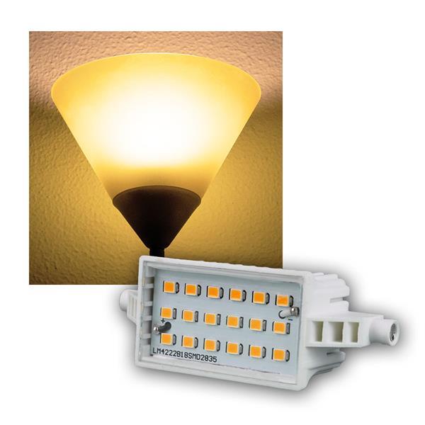 R7s LED-Leuchtstab 78mm warm weiß 420lm 6W/230V