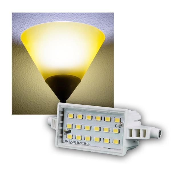 R7s LED-Leuchtstab 78mm kalt weiß 520lm 6W/230V