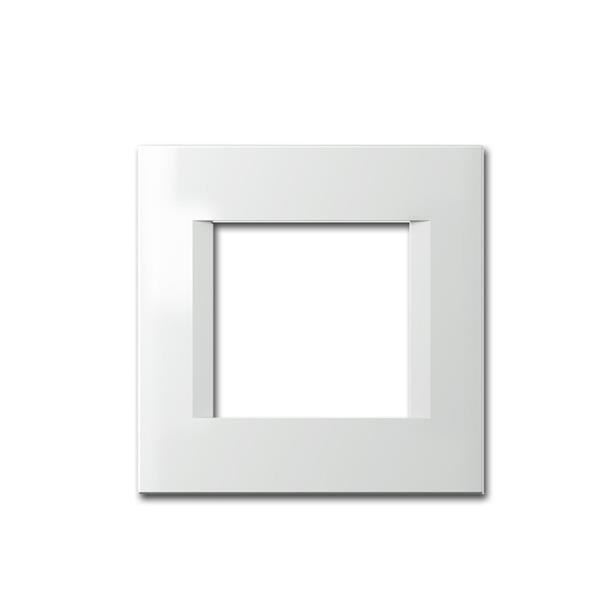 MODUL-PLUS 1-fach UP-Rahmen, Weiß-Glanz, line