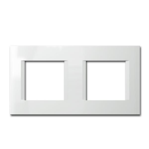 MODUL-PLUS 2-fach UP-Rahmen, Weiß-Glanz, line