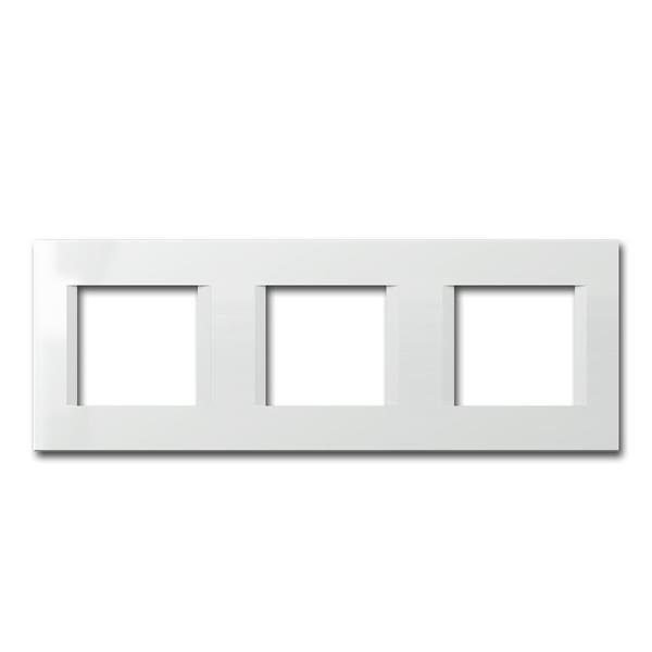MODUL-PLUS 3-fach UP-Rahmen, Weiß-Glanz, line
