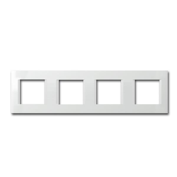 MODUL-PLUS 4-fach UP-Rahmen, Weiß-Glanz, line