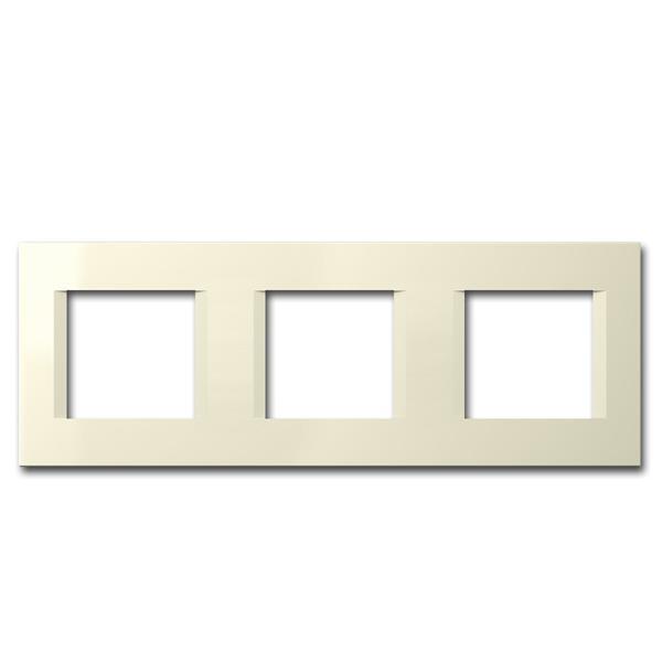 MODUL-PLUS 3-fach UP-Rahmen, Beige-Glanz, line