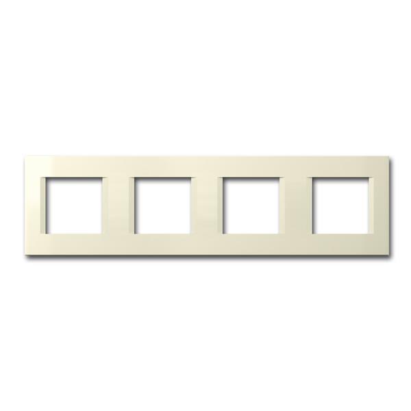 MODUL-PLUS 4-fach UP-Rahmen, Beige-Glanz, line