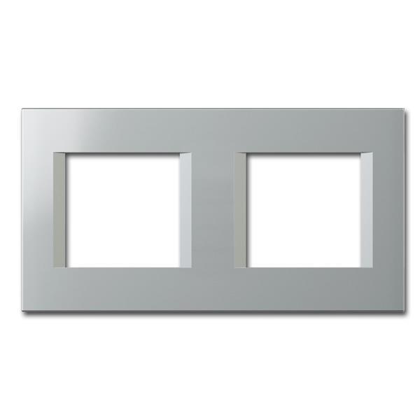 MODUL-PLUS 2-fach UP-Rahmen, Silber-Elox, line